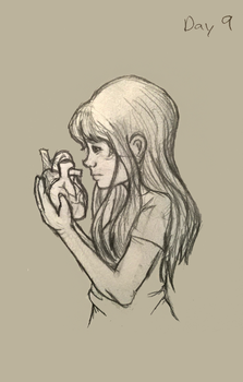 Sketch Challenge - Day 9 - Heart by They-Are-Not-Stars