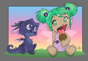 Dragon Fairy N Ice Cream by Kitsunie