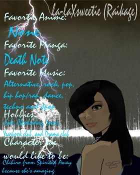 la-laXsweetie Interview Page by DaSistahsGrimm