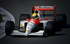 Ayrton Senna wallpaper Honda by JohnnySlowhand