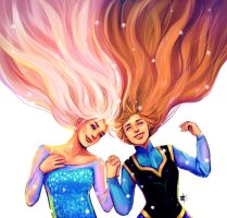 Elsa and Anna by whoalisaa