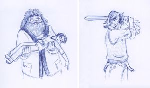 07_36 Mourning Hagrid and Heroic Neville by kuabci