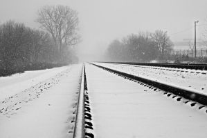 Frozen Rails by AquarianPhotography