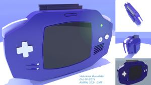 My very first 3D model! Gameboy Advance by Golden-Apple-Ribbon