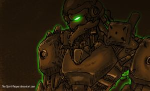 Speed Painting : Rusty Mecha by The-Spirit-Reaper