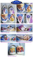 My beauty and the beast shoes by FascinationDisney