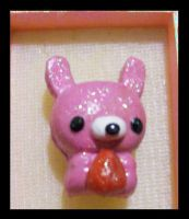 Pink Bunny Broach by AnaInTheStars