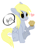 Derpy loves Muffin by BubbleTeaCaT-Fleecy