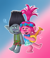 Trolls - Branch and Poppy by MaryThaCake