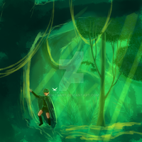 Saria's Lost Woods WIP by Noctuart