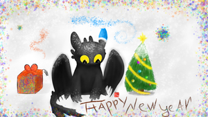 Happy new year from toothless by Nyan-Tortik