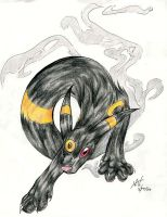 Ugly ugly Umbreon by ashkey