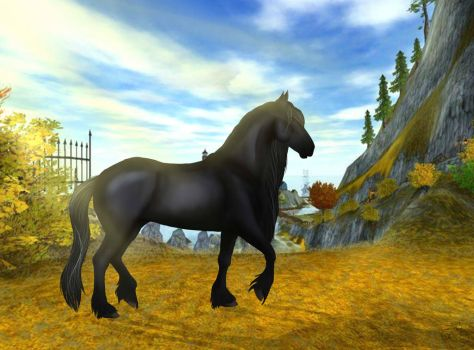 (Star Stable Online) Friesian horse by SkyFlyer206