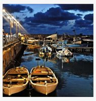 Yaffo port at night 2 by ShlomitMessica