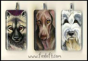 Glass Pendants - Group 16 by Foxfeather248