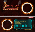 Flame Of Kyo Player Rainmeter by ZakycooL