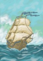 French sloop by JakarNilson