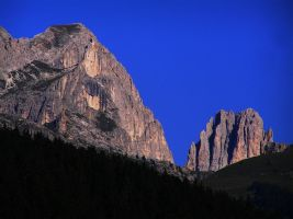 Mountains and deep blue by edelweiss26