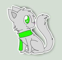 Olivewhisker Sticker by ShimooFox