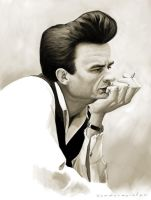 Johnny Cash by markdraws