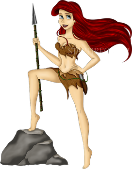 Commission: Ariel Jungle Girl by starfiregal92