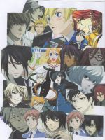 Top 22 Anime Guys Collage by iTurtleParis