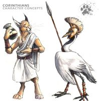 Corinthian Character Concepts by screwbald