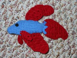 Betta Fish Plushie by JenniferElluin