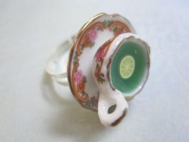 Green tea and Ginger Ring by CandyChick