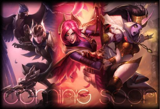 Quinn And Valor + Soraka Skin ! COMING SOON by Diamoondz