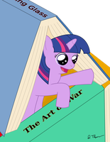 Twily's bookfort by cuttincows