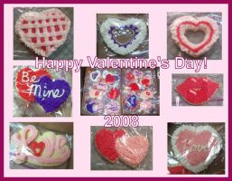 Valentine's Day Cookies 2008 by Saiyan-Silk