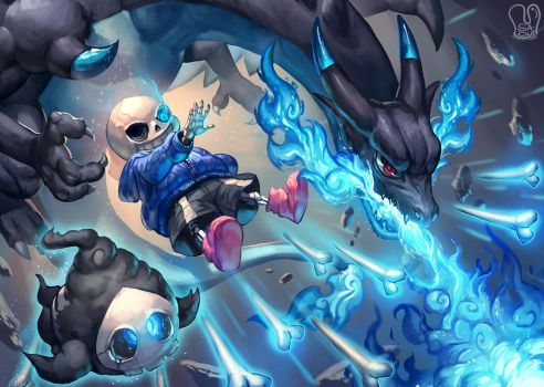 Pokemon x UNDERTALE : Blue Death by Sa-Dui