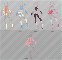 .Adoptable outfits. by Jucii-chan