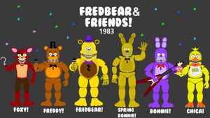 Fredbear and Friends! Poster by hookls