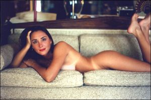 Madison Implied Nude on the Couch: 1995 by Saledin