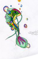 cool and pretty fish colored by sapphire-blackrose