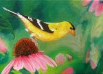 Goldfinch - acrylic painting by Giselle-M