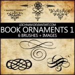 Book Ornaments Brushes 1 by Leichnam