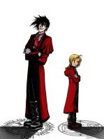 Men in Red: Edo and Aru by isolde