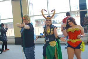 Anime Boston 2014 - Unlikely Trio by VideoGameStupid