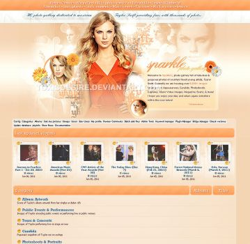 Taylor Swift Coppermine Layout by toxicdesire