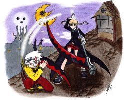 Maka and Soul by Menanie605