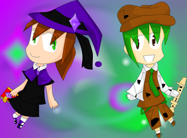 Chibi Wicia and Ryan by FireUnleaser