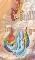 Rainbow Dash and Scootaloo by Vanderlin-Trav