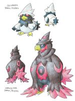 MURKROW Pre-Evo, Evo Contest by darksilvania