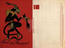 Krampus postcard by missmonster