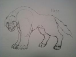 FA: Naga the Polarbear Dog Sketch by KHC1000