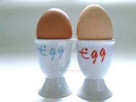 Egg x 2 by Tricia-Danby