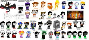 Characters Outside Warriorstuck by Nfreak974